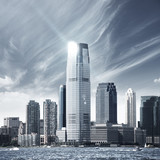 Fototapety Future city - newyork city