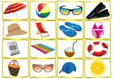 accessori spiaggia poster