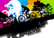 Quadro Colored mountain bike abstract background