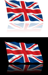 British Flag Flowing