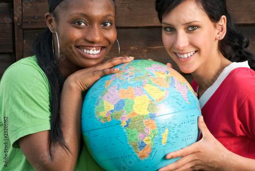 Leinwanddruck Bild Globalisierung, Afrika