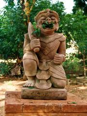 Myanmar, Bagan - Demon statue nb.2