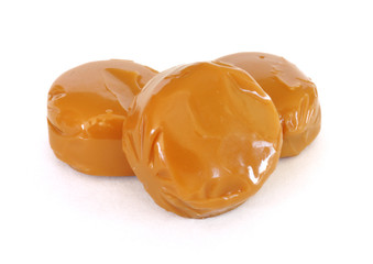 Three Pieces of Caramel Candy