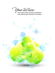Abstract Vector Design - Colorful Transparent Spheres, Orbs