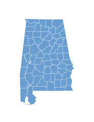 Alabama map in vector