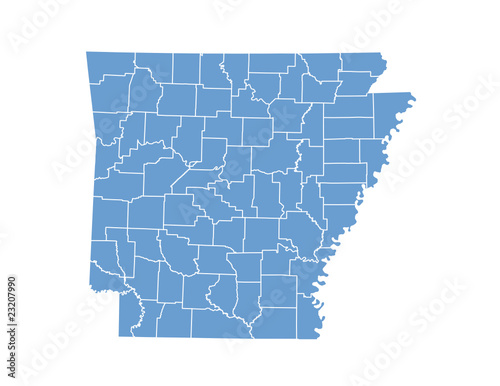 Arkansas map in vector