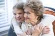 Portrait of happy grandmother with grandchild