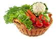 Korb mit farbenfrohem Gemüse