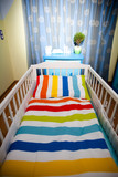 nursery room and baby cot poster