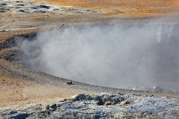 Hverir geothermal fields around Namafjall mountain, Myvatn lake