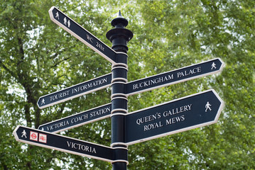 Buckingham Palace Road Sign