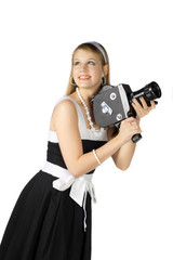 Girl with film camera