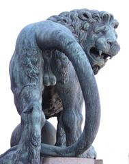 Lion de dos, statue