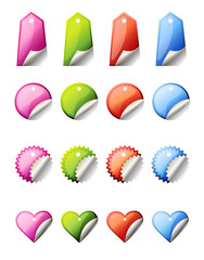 glossy vector lables