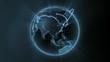 global network animation - blue version - loop