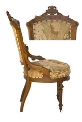 Eastlake victorian antique chair with upholstery side & top