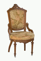 Eastlake victorian antique chair with upholstery