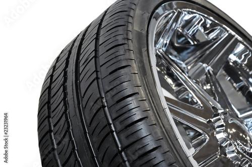 Leinwanddruck Bild Reifen + Alufelge