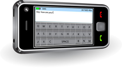 Smatphone with qwerty