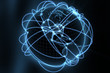 global network concept - blue america version