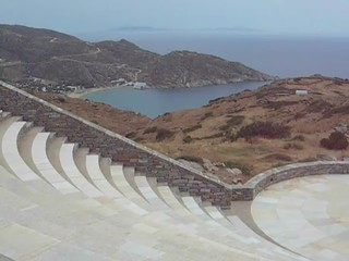 amphitheater Milopotas beach Aegean  sea Ios Greek island