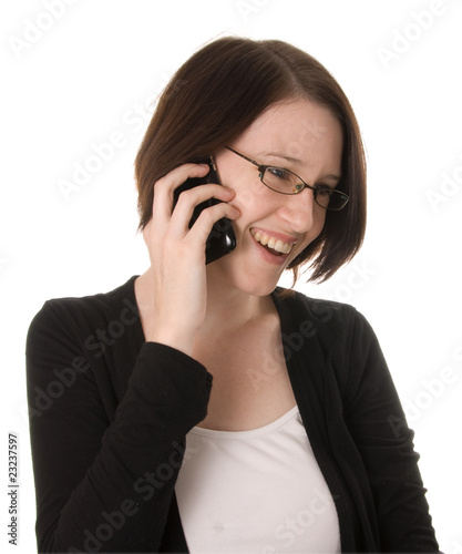 Happy woman on phone