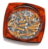 cigarettes stubs in ashtray poster