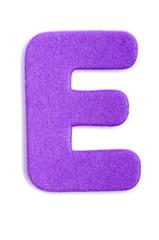 Foam letter E