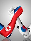 orean arm wrestling poster