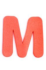 Foam letter M