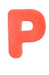Foam letter P