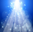Rays of light on a blue background - an abstract illustration