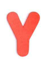 Foam letter Y