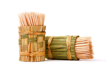 Toothpicks wooden box in Wicker