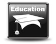 """Glossy Black Button """"Education"""""""