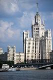 Une des tours de Staline et la Moskova poster