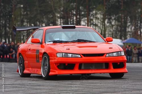 Foto op Canvas Snelle auto s Orange sport car
