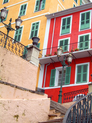 colorful historic architecture buildings Bastia Corsica France