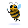 3d bee waves at you