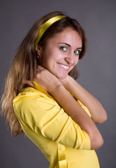girl in yellow blouse