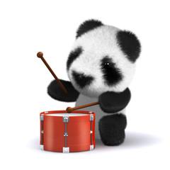 3d Teddy bangs the drum!