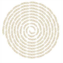Wheat swirl background