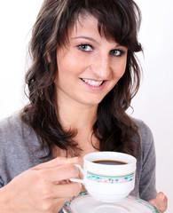 Frau Mädchen mit Kaffee - woman girl with coffee