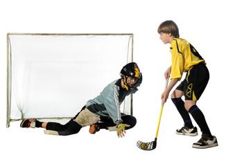 floorball player and goalkeeper