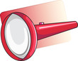 Illustration of torch in red handle