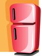 Illustration of refrigerator in black handle