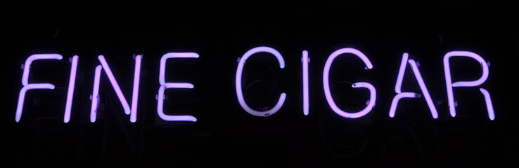 Fine Cigar Neon Sign