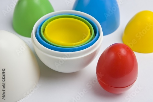 Colorful plastic eggs