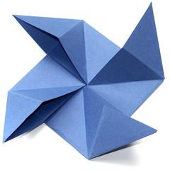 origami, moulin à vent, fond blanc