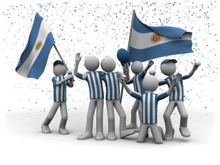 Fussballfans Argentinien